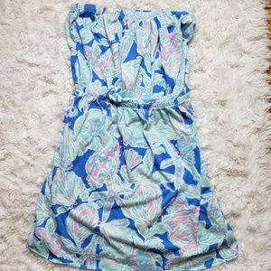 Lilly Pulitzer Windsor Pull on Tube Top Dress Sz M